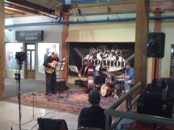 Live shot: Michael Musillami Trio at Bop Shop Atrium